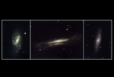 Leo Triplet Galaxies Close Up