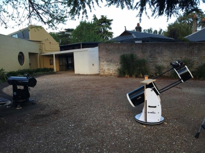 Sel and Peter's scopes set up for the Planets