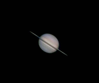 Saturn prime focus with Toucam and Skywatcher Flex Dob 12 inch