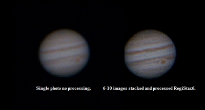 Jupiter and red spot