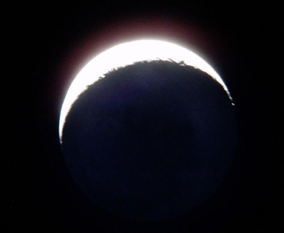 Day 3 earthshine